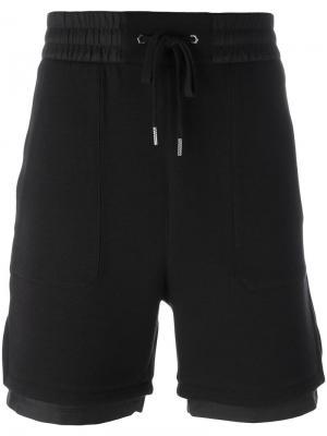 Многослойные спортивные шорты Helmut Lang. Цвет: чёрный