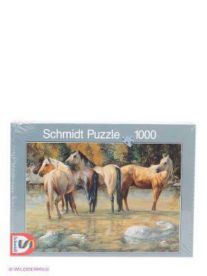Пазл Друзья лошадей Schmidt. Цвет: бежевый, зеленый, черный