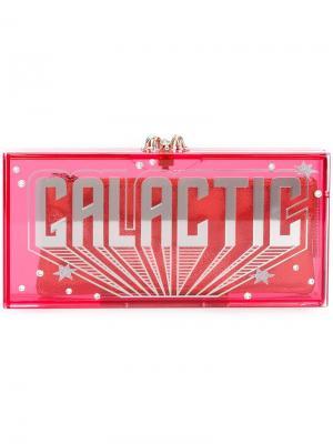 Клатч Galactic Penelope Charlotte Olympia. Цвет: розовый и фиолетовый