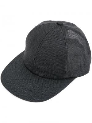 Полупрозрачная кепка Kijima Takayuki. Цвет: чёрный