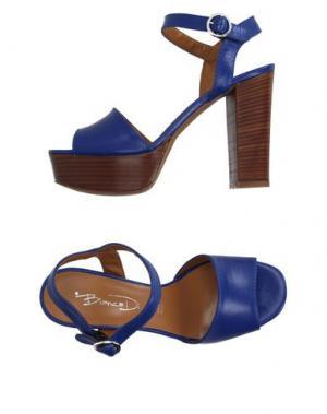 Сандалии BIANCA DI. Цвет: синий