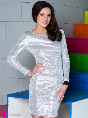 Платье Fuzer. Цвет: серебристый