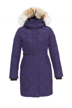 Пуховик с поясом и капюшоном 152308 Arctic Bay. Цвет: фиолетовый