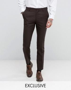 Number Eight Savile Row Зауженные брюки. Цвет: коричневый