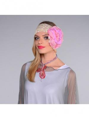 Повязка Lak Miss. Цвет: бежевый, розовый