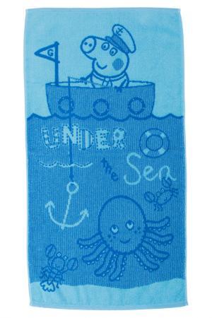 Полотенце махровое 30х60 СВИНКА ПЕППА. Цвет: голубой