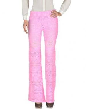 Повседневные брюки TEMPTATION. Цвет: розовый