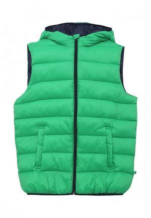 Жилет утепленный United Colors of Benetton. Цвет: зеленый