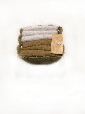 Набор салфеток 6 предметов 30х30 в корзинке Exclusive. La Pastel. Цвет: белый,бежевый