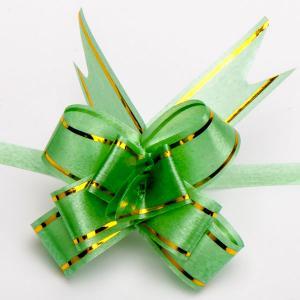 Бант подарочный УП-083 Бусики-Колечки. Цвет: зеленый