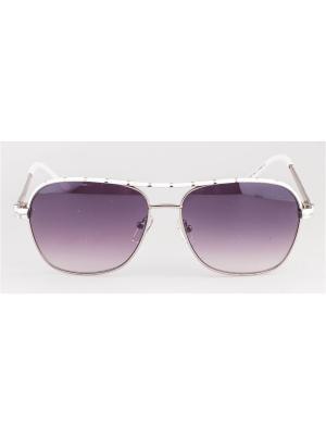 Солнцезащитные очки MLook. Цвет: белый