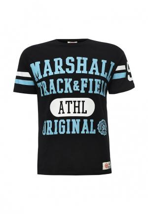 Футболка Marshall Original. Цвет: черно-белый