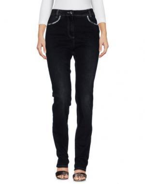Джинсовые брюки L.P. di L. PUCCI. Цвет: черный