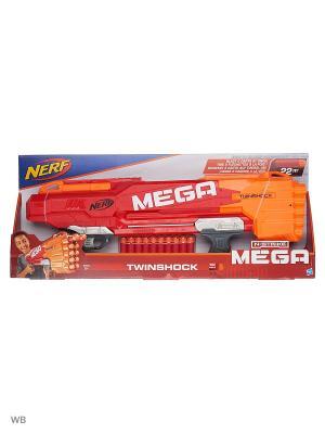 Нёрф мега Твиншок (бластер) NERF. Цвет: красный, синий, черный