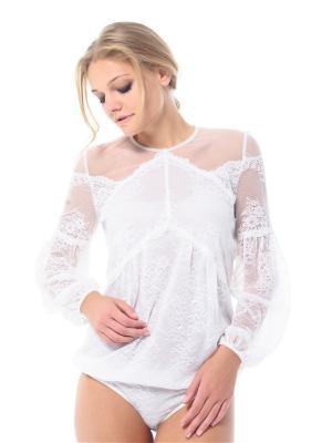 Блузка- боди Arefeva. Цвет: молочный