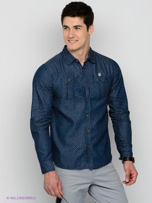Рубашка Mezaguz. Цвет: темно-синий
