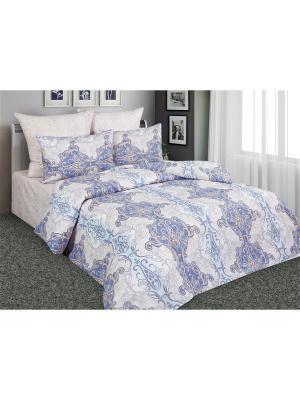 Постельное белье Антик 1,5 спальный Amore Mio. Цвет: голубой, бежевый