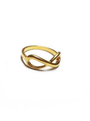 Кольцо Бесконечность Amorem. Цвет: золотистый