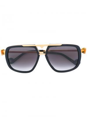 Солнцезащитные очки Paws Up Anna Karin Karlsson. Цвет: чёрный