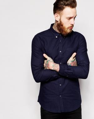 Dr Denim Оксфордская рубашка слим Pete. Цвет: синий
