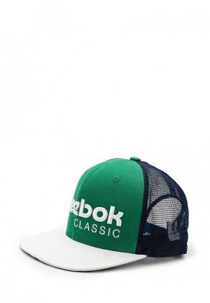 Бейсболка Reebok. Цвет: зеленый