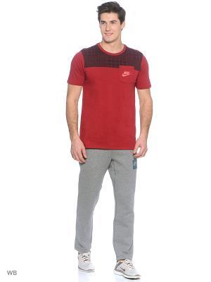 Футболка M NSW TEE DRPTL AV15 PKT PRNT Nike. Цвет: красный