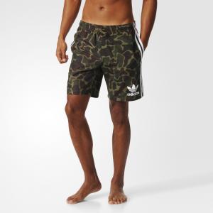 Пляжные шорты Camouflage  Originals adidas. Цвет: разноцветный