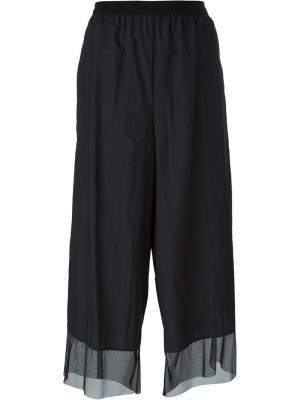Широкие брюки Kolor. Цвет: чёрный