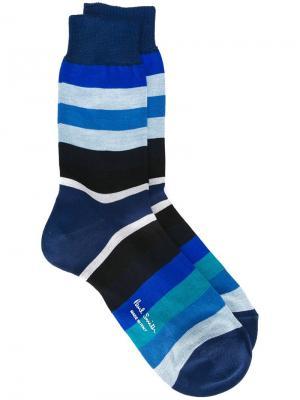 Носки в полоску Paul Smith. Цвет: синий