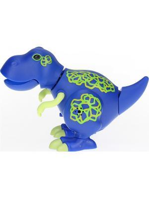 Динозавр Troy, синий с желтыми когтями Silverlit. Цвет: желтый, синий