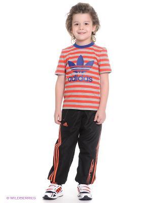 Брюки YB F50 WV PT CH Adidas. Цвет: черный, оранжевый