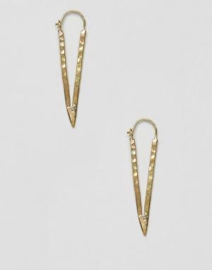 Made Серьги-треугольники. Цвет: золотой