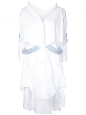 Платье-рубашка с бретельками Esteban Cortazar. Цвет: белый