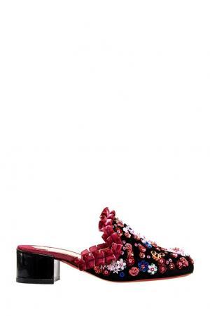 Бархатные сабо с пайетками Dona Vieira 35 Christian Louboutin. Цвет: multicolor