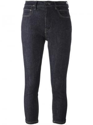 Укороченные джинсы скинни Rick Owens DRKSHDW. Цвет: синий