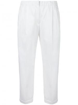 Укороченные брюки Odeeh. Цвет: белый