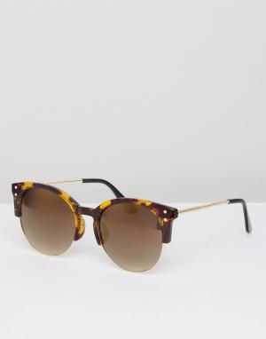 AJ Morgan Солнцезащитные очки в черепаховой оправе. Цвет: коричневый