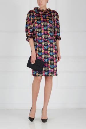 Шелковое платье (80-е) Louis Feraud Vintage. Цвет: разноцветный