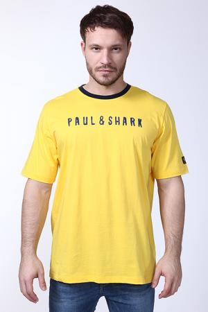 Футболка Paul & Shark. Цвет: желтый