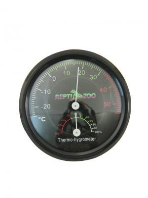 Термогигрометр аналоговый 75*15мм. REPTI-ZOO. Цвет: черный