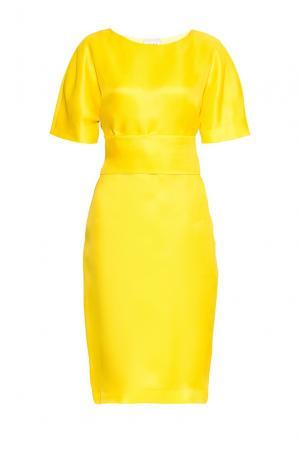 Платье из шелка с поясом PG-180641 Studia Pepen. Цвет: желтый