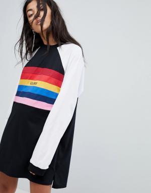 The Ragged Priest Платье-футболка. Цвет: черный