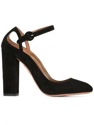 Туфли на устойчивом каблуке Aquazzura. Цвет: чёрный