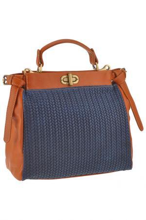 Сумка FLORENCE BAGS. Цвет: blue, honey