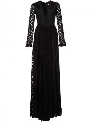 Платье макси c V-образным вырезом Maria Lucia Hohan. Цвет: чёрный