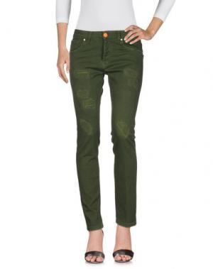 Джинсовые брюки GABARDINE. Цвет: зеленый
