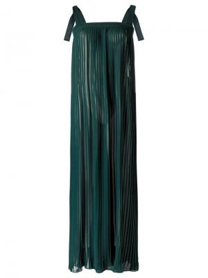 Maxi dress Adriana Degreas. Цвет: зелёный