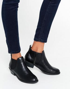 Head Over Heels Черные ботинки челси By Dune Piro. Цвет: черный