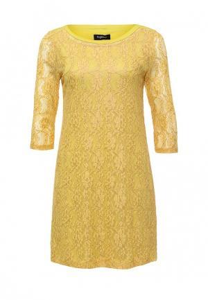 Платье Byblos. Цвет: желтый