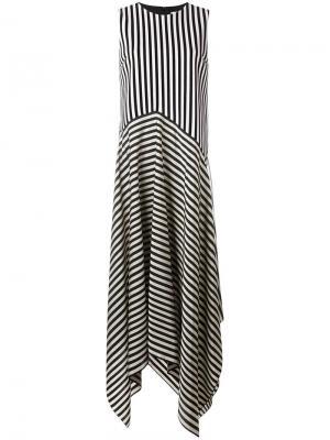 Полосатое платье Dex Christian Wijnants. Цвет: чёрный